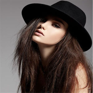 Accessories - Black Felt Hat Festival, Boho Chic, Fancy Dress,